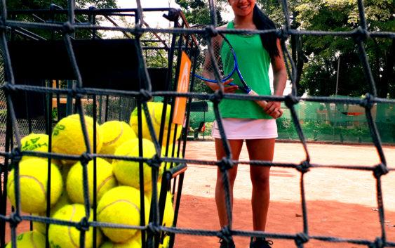 La volea sostenida de la tenista huilense María Camila Torres
