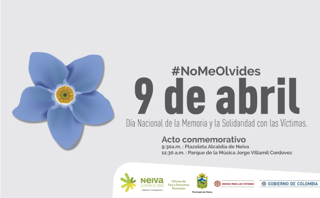 El 9 de Abril se marchará en Neiva en memoria de las víctimas del conflicto
