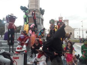 Artistas huilenses asistieron a la cuarta versión del Festival CREA en Riobamba, Ecuador