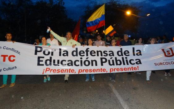 La Usco está en las calles haciéndose escuchar: memorable manifestación se realizó en Neiva el 10 de Octubre