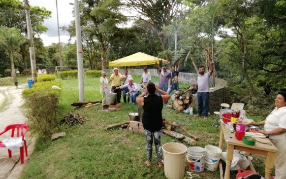 Sancochada de integración comunitaria en pro del parque Los Periodistas en Pitalito